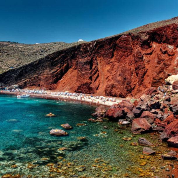 South Santorini's Red Beach